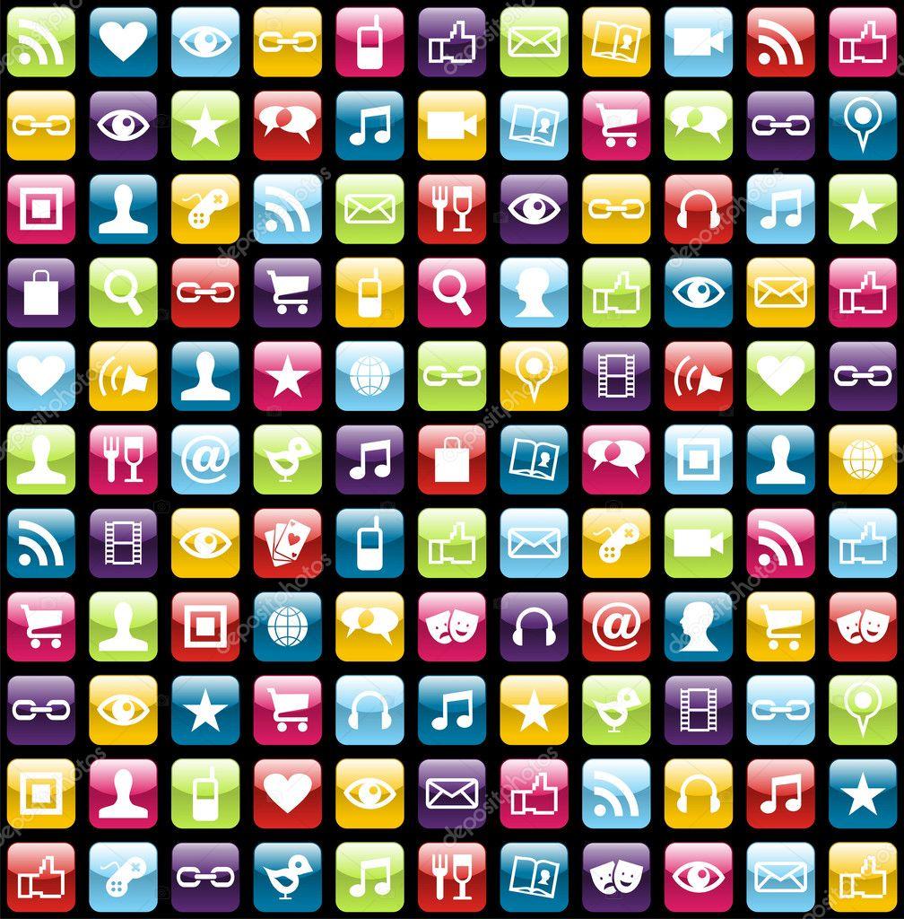 Background Image Icon Smartphone App Icon Set