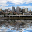 Brisbane, queensland, australia with reflections in the brisbane river - Stock Photo