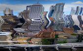 абстрактный город с зданий и дорог — Стоковое фото