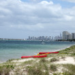 Beach leading to gold coast beaches in queensland, australia — Stock Photo