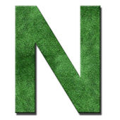 Grass letters — Stock Photo