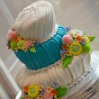 Stock Photo: Colorful wedding cake