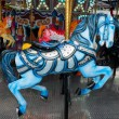 Stock Photo: Blue carousel horse