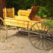 Old wooden carriage — Stock Photo