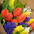Stock Photo: Colorful tulip bouquet