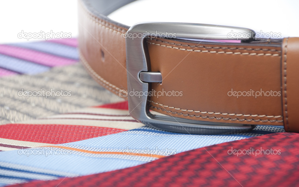 Tie and belt for business attire  Stock Photo #9931523