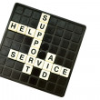 Customer support crossword — Stock Photo