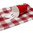 Picnic placesetting — Stock Photo