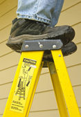 Ladder safety concept — Stock Photo