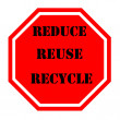 Stock Photo: Recycle sign