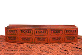 Raffle tickets — Stock Photo