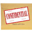 Manila envelope stamped confidential — Stock Photo