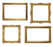 Old antique frame - set of four photos with clipping path — Foto Stock