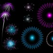 Royalty-Free Stock Vector Image: Colorful fireworks - set