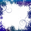 Winter background, snowflakes - vector illustration — Stock vektor