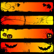 Halloween horizontal banners, set — Stock Vector