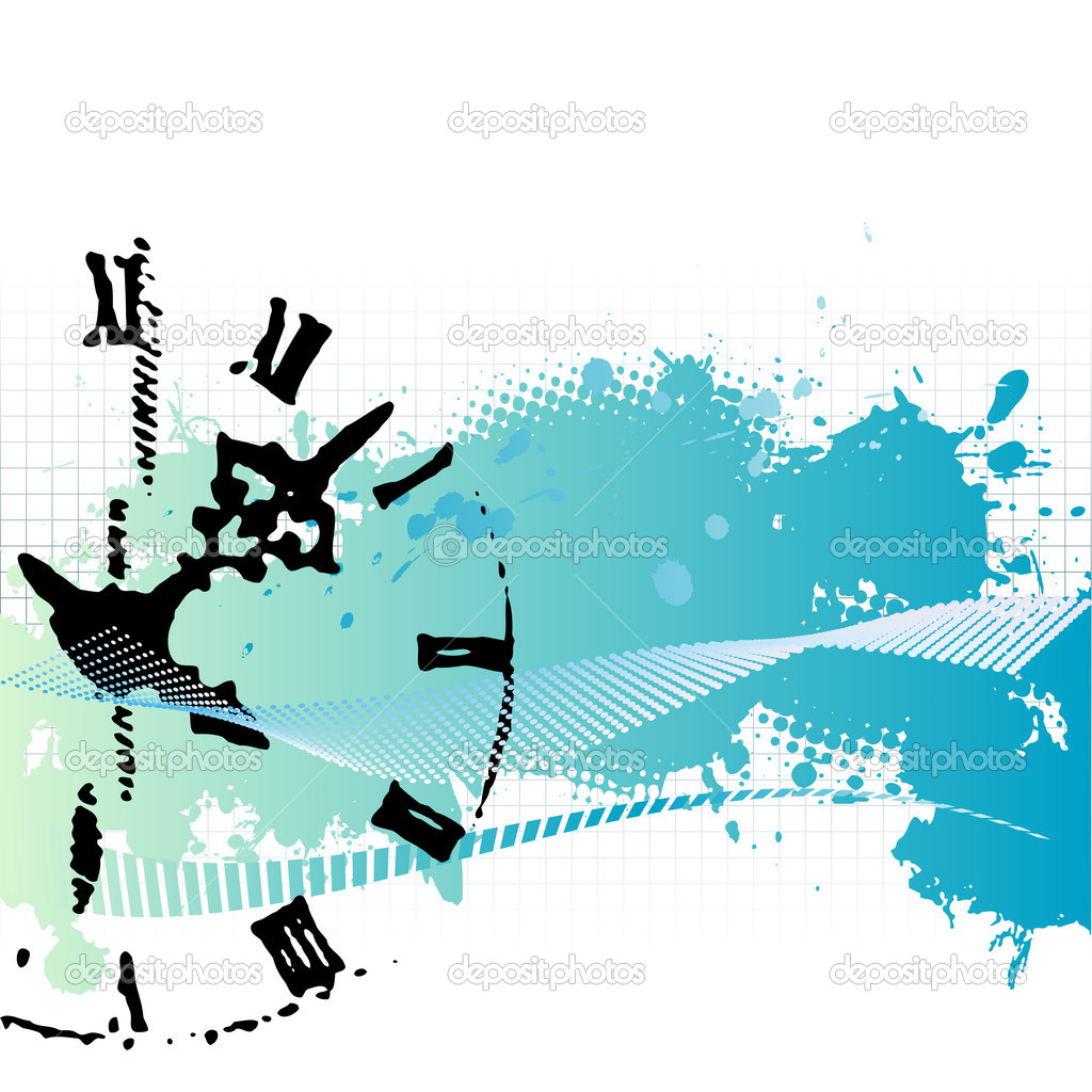 Vector background with a clock  Stock Vector #8462788
