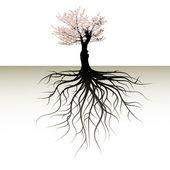 árvore floresce com um espaço para um texto — Vetorial Stock