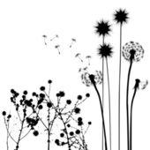 Insamling, för designers, växt vektor — Stockvektor