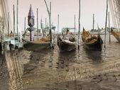 Sons de Veneza, fundo, ilustração — Fotografia Stock