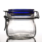 Closed empty glass jar — Stock Photo