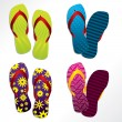 Royalty-Free Stock Imagem Vetorial: Various flip flop designs