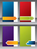 Business brochure templates — Stock Vector