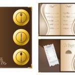 menu ontwerp voor restaurants — Stockvector