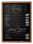 Menu on a blackboard — Stock Vector