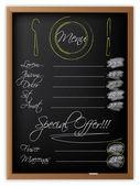 黑板上的菜单 — 图库矢量图片