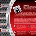 Technology website template design — Stock Vector
