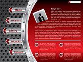 Diseño de plantillas de sitio web de tecnología — Vector de stock