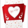 Royalty-Free Stock Vectorafbeeldingen: Origami valentine