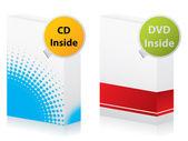 Cd ve dvd kutuları — Stok Vektör