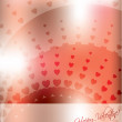 Abstract valentine greeting card — Stock Vector #8492086