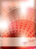 Abstract valentine greeting card — Stock Vector