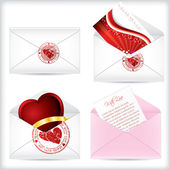 Valentine love letters — Stock Vector