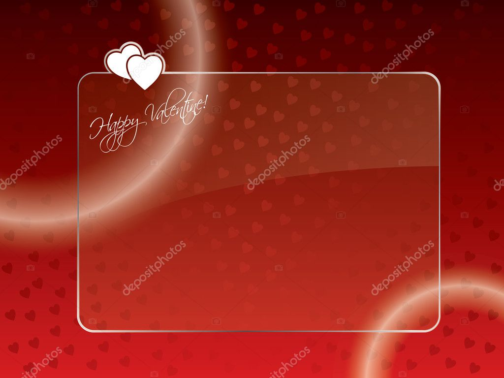 Abstract valentine greeting card with glossy glass — Stock Vector #8666195