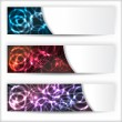 Abstract banner set with plasma effect — Stock Vector
