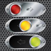 раздвижные кнопку набор — Cтоковый вектор