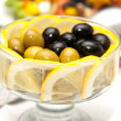 Stock Photo: Olives with lemon