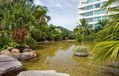 Hotel in tropic — Stockfoto