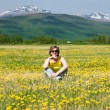 Woman on a meadow — Stock Photo #10498896