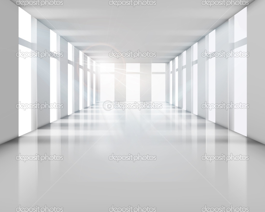 Empty modern interior. Vector illustration.  Stock Vector #10625884