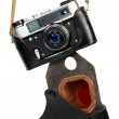 Old retro photo camera - Stock Photo