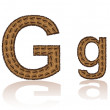 Letter G is made grains of coffee vector illustration - Stock Vector