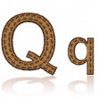 Letter Q is made grains of coffee vector illustration - Stock Vector