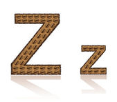 Letter Z is made grains of coffee vector illustration — Stock Vector