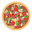 Pizza vector illustration — Stockvektor