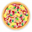 Royalty-Free Stock Vector Image: Pizza vector illustration